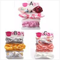 set bandana 3pcs untuk bayi anak perempuan
