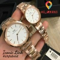 Jam tangan Daniel Welington Iconic Link White Rose Gold