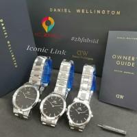 Jam tangan Daniel Welington Iconic Link Black Silver