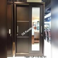 lemari pakaian pintu sliding 110cm LP 01