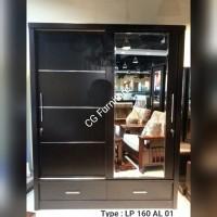 lemari pakaian pintu sliding 160 lp 01