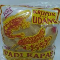 Krupuk udang asli Cirebon kwalitas super cap Padi kapas