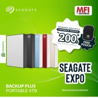 Seagate New Backup Plus Portable 4TB / HDD External / 3 Years Warranty