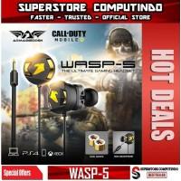 Earphone Gaming Armaggeddon WASP-5 Dual Microphone - Super Bass