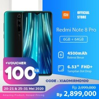 XiaoMi Redmi Note 8 Pro [6GB + 64GB/Garansi offical]