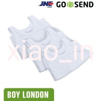 Singlet bayi BOY LONDON salur 100 Cotton