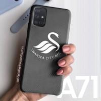 Casing hard case Samsung A71 A50 A51 A20 Black Carbon Swansea City Log