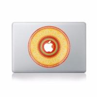 Stiker Decal Motif Bunga Cantik Bahan Vinyl untuk Apple Macbook Pro