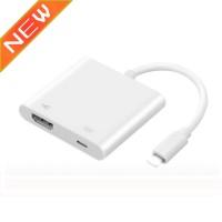 Kabel Konverter 3 In 1 8Pin Ke HDMI AV untuk iPhone