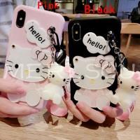 Cute KT Mirror Casing Matte Soft Case Samsung A80 A70 A60 A50 A40