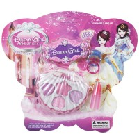 FLID 1Set PrincePretty Shell Kids Girl Makeup Toy Cosmetics
