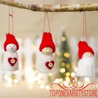 ORT-3Pcs Wooden Peg Dolls Family Crafts Topper Kid´s Hanging