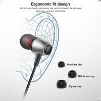S3 Earphone In-ear Subwoofer Universal Bahan Metal dengan Jack 3.5mm