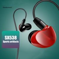 sx538 Earphone In-ear Portable Subwoofer dengan Kabel Jack 3.5mm