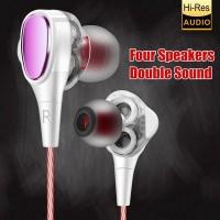 Earphone HiFi Stereo Subwoofer Dengan Mikrofon Untuk iPhone 6 / 6S