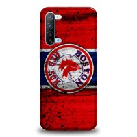 Hardcase Casing Oppo Reno 3 Boston Red Sox Grunge Baseball Clu