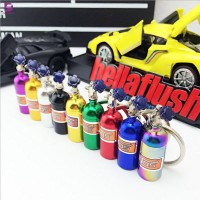 Turbo Nitrogen Bottle Metal Key Chain Key Ring Holder Car Keychain