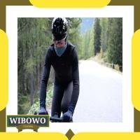 Terlaris Jaket Sepeda Pedal Ed Fuji Team - Black Terbatas