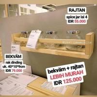 Ready Stock BEKVAM RAK DINDING - RAK BUMBU IKEA