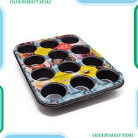 Maxim Bakeware Loyang Muffin/Kue Anti Lengket 12 cup Kualitas Premiu