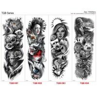 Tattoo/Tattoo temporary/Tattoo Temporer/Tattoo 17x48 cm Tqb 081-096