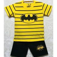 7-10T Setelan baju kaos anak karakter Laki laki Batman Salur