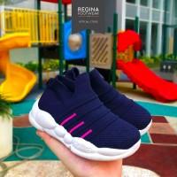 Faster Kids - Sepatu Sport Sneaker Anak Unisex 1912-428 Size 27-38 - D.Grey, 28