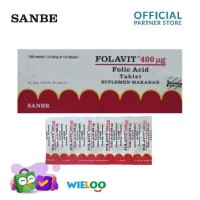 Folavit Folic Acid 400ug (Strip isi 10 tablet)