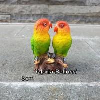 patung pajangan burung love bird miniatur sun conure