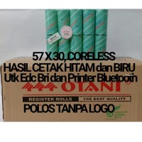 Kertas Struk Thermal Edc BRI 57x30, Isi 10Roll - Biru