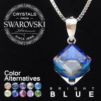 Kalung Perak Silver 925 Crystals From Swarovski |Lapis Emas Putih KS23