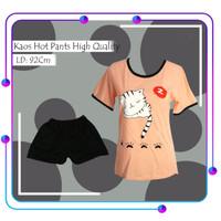 Setelan Kaos T-Shirt Lengan Pendek Wanita Casual Kaos/Piyama