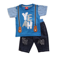 Baju Setelan Anak 1 2 3 tahun Bayi Balita Laki-laki Atasan Kaos Celana