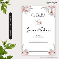 Undangan Pernikahan Softcover Lipat 3 Jasmine Unik Kekinian - SCLT 001