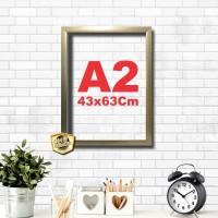 Kaligrafi dan Poster ukuran A2 bingkai 43x63 gold