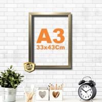 Kaligrafi dan Poster ukuran A3 bingkai 33x43 gold