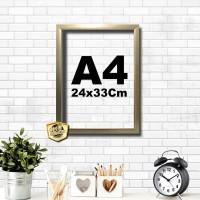 Kaligrafi dan Poster ukuran A4 bingkai 24x33 gold