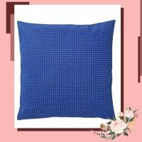 IKEA YPPERLIG Sarung bantal kursi, biru/berdot