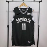Jersey Basket Swingman NBA Brooklyn Nets Kyrie Irving hitam logo