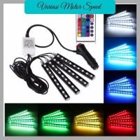 LED LAMPU KOLONG +Remote Dekorasi Dashboard Mobil 16 Warna DRL RGB VMS