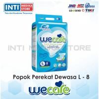 WECARE - Popok Dewasa Unisex L 8 / Popok Perekat / Adult Diapers