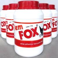 Lem Putih Fox Kemasan 1 kg / Lem Putih PVac Fox Kemasan 1 kg