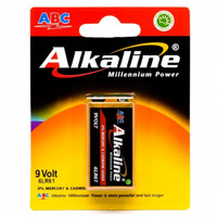Battery ABC Alkaline 9v - Baterai Alkalin Kotak 9volt Batu Batere Batt
