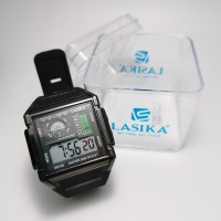 Jam tangan digital segi Sporty water Resist lasika 6108