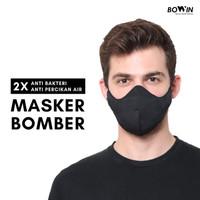 Bowin Masker Bomber Masker Kain 4 Ply Masker Motor 2x Anti Bakteri