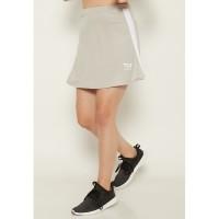 LB027 Sport skirt list white td active olahraga wanita abu muda