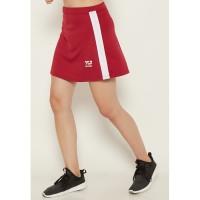LB028 Sport skirt list white td active olahraga wanita maroon