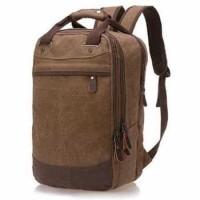 tas ransel bahan kanvas tas traveling tas backpaker tas punggung