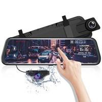 AZDOME Mirror Dash Camera Touch Screen 1080P ADAS Parking Mode