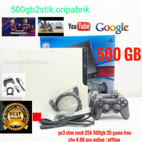 Ps3 slim Cfw 4.83 pro cech 25 bisa buat online and YouTube.hdd 500gb